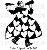 Vector Clip Art of Retro Guy Announcing His Love by Prawny Vintage