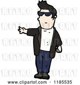 Vector Clip Art of Retro Guy from the 1950's by Lineartestpilot