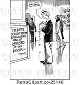 Vector Clip Art of Retro Guy Having to Purchase Ligitimate Tickets by Prawny Vintage