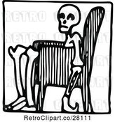 Vector Clip Art of Retro Guy in a Chair Icon by Prawny Vintage
