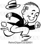 Vector Clip Art of Retro Guy Running by BestVector