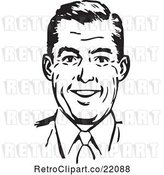 Vector Clip Art of Retro Guy Smiling by BestVector