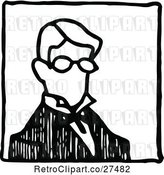Vector Clip Art of Retro Guy with Glasses by Prawny Vintage