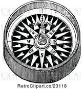 Vector Clip Art of Retro Hand Compass 1 by Prawny Vintage
