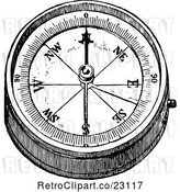 Vector Clip Art of Retro Hand Compass 2 by Prawny Vintage