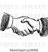 Vector Clip Art of Retro Hand Shake by Prawny Vintage