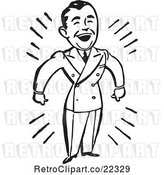 Vector Clip Art of Retro Happy Business Man by BestVector