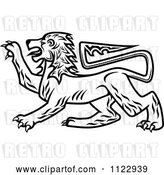 Vector Clip Art of Retro Heraldic Lion 2 by Vector Tradition SM