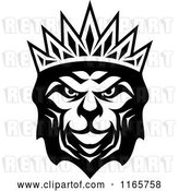 Vector Clip Art of Retro Heraldic Lion with a Crown 3 by Vector Tradition SM
