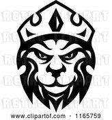 Vector Clip Art of Retro Heraldic Lion with a Crown 4 by Vector Tradition SM