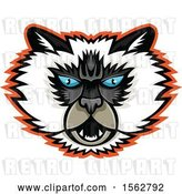 Vector Clip Art of Retro Himalayan Cat Mascot Head by Patrimonio