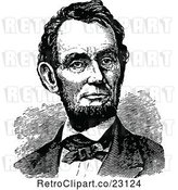 Vector Clip Art of Retro Historical Portrait of Abe Lincoln by Prawny Vintage