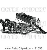 Vector Clip Art of Retro Horse Drawn Mining Cart by Prawny Vintage