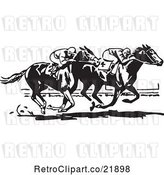 Vector Clip Art of Retro Horse Race by BestVector