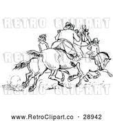 April 16th, 2018: Vector Clip Art of Retro Horse Riders by Prawny Vintage