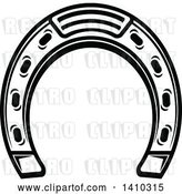 Vector Clip Art of Retro Horseshoe by Vector Tradition SM