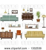 Vector Clip Art of Retro Household Furniture 4 by Vector Tradition SM