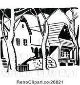 Vector Clip Art of Retro Houses by Prawny Vintage