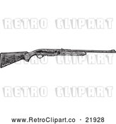 Vector Clip Art of Retro Hunting Rifle by BestVector
