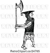 Vector Clip Art of Retro Irishman with an Axe by Prawny Vintage