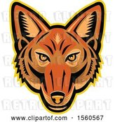 Vector Clip Art of Retro Jackal Mascot Head by Patrimonio