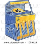 Vector Clip Art of Retro Juke Box by Any Vector