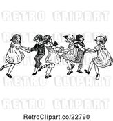 Vector Clip Art of Retro KChildren Dancing by Prawny Vintage