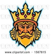 Vector Clip Art of Retro King and Crown Head by Patrimonio