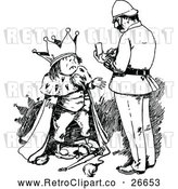 Vector Clip Art of Retro King and Officer by Prawny Vintage