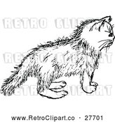 Vector Clip Art of Retro Kitten by Prawny Vintage