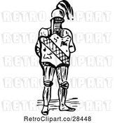 Vector Clip Art of Retro Knight and Shield by Prawny Vintage