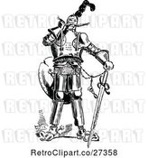 Vector Clip Art of Retro Knight with a Sword by Prawny Vintage