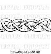 Vector Clip Art of Retro Knot Border by Prawny Vintage