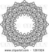 Vector Clip Art of Retro Lace Circle Design by Vector Tradition SM