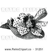 Vector Clip Art of Retro Ladies Hat 1 by Prawny Vintage