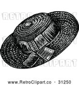 Vector Clip Art of Retro Ladies Hat 2 by Prawny Vintage