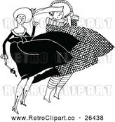 Vector Clip Art of Retro Ladies in the Wind by Prawny Vintage