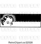 Vector Clip Art of Retro Lady with Permanent Waves by BestVector