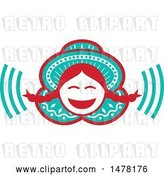 Vector Clip Art of Retro Laughing Peruvian Girl by Patrimonio