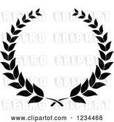 Vector Clip Art of Retro Laurel Wreath 2 by Vector Tradition SM