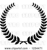 Vector Clip Art of Retro Laurel Wreath 5 by Vector Tradition SM