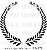 Vector Clip Art of Retro Laurel Wreath 6 by Vector Tradition SM