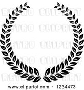 August 14th, 2018: Vector Clip Art of Retro Laurel Wreath 7 by Vector Tradition SM
