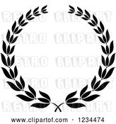Vector Clip Art of Retro Laurel Wreath 8 by Vector Tradition SM