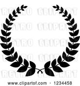 Vector Clip Art of Retro Laurel Wreath 9 by Vector Tradition SM