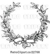 Vector Clip Art of Retro Laurel Wreath and Bow by BestVector