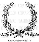Vector Clip Art of Retro Laurel Wreath and Ribbon by BestVector