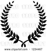 Vector Clip Art of Retro Laurel Wreath by Vector Tradition SM