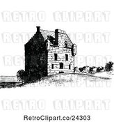 Vector Clip Art of Retro Lauriston Castle by Prawny Vintage