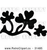 Vector Clip Art of Retro Leaf Design Element 4 by Prawny Vintage